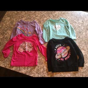 Other - Bundle Girls LS tees & sweatshirt